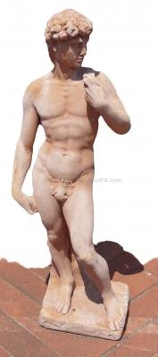 David Statue aus Terracotta 84cm hoch