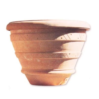 Terracotta-Pflanztopf für Olivenbäume mit Muster